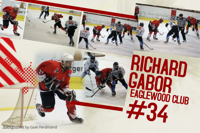 Ice Hockey Photo Collage Template Poster