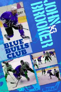 Ice Hockey Photo Collage Template