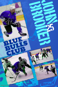 Ice Hockey Photo Collage Template Plakat