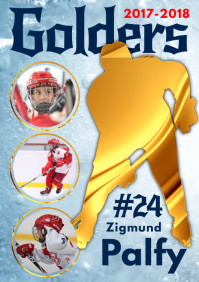 Ice Hockey Player Poster