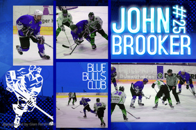 Ice Hockey Sports Collage Template