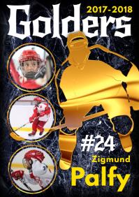 Ice Hockey Team Template A4