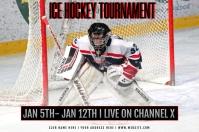 Ice Hockey Tournament Banner 4' × 6' template
