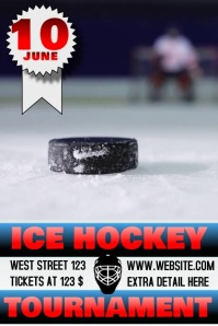 ICE HOCKEY TOURNAMENT FLYER/POSTER VIDEO