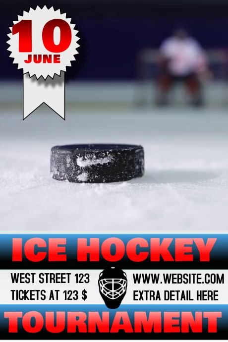 ICE HOCKEY TOURNAMENT FLYER/POSTER VIDEO template