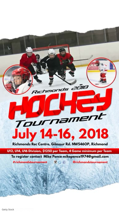 Ice Hockey Tournament Instagram Template Postermywall