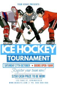 Ice Hockey Tournament Poster