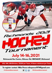 Ice Hockey Tournament Poster Template A4