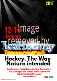 Ice Hockey Tournament Poster