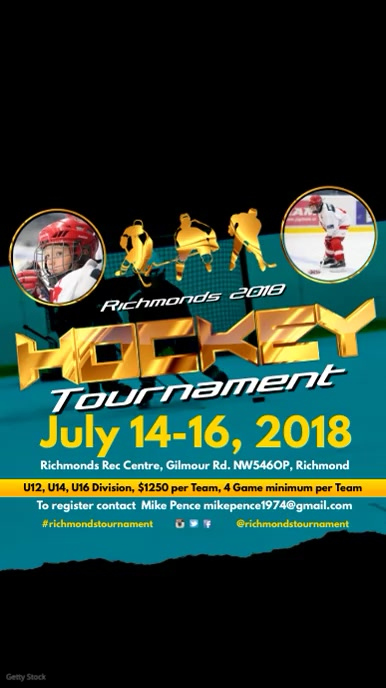 Ice Hockey Tournament Template Postermywall
