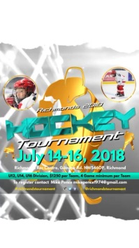Ice Hockey Tournament Template Digital Display (9:16)
