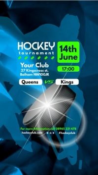 Ice Hockey Tournament Video Template Postermywall