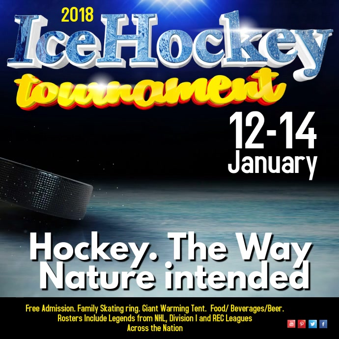 Ice Hockey Tournament Video Template