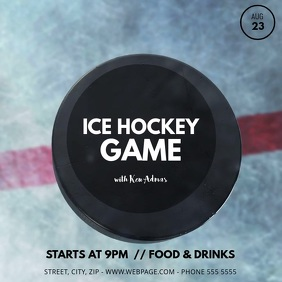 Ice hockey Video Ad Template Instagram Post