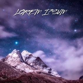 ICE MOUNTAIN MOUNTAINS SNOW STARS BACKGROUND