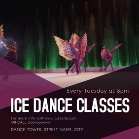 Ice skate dance Class Square (1:1) template