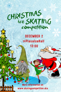 Ice skating competition Poster template