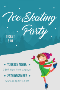 Ice Skating Event Poster Template