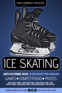 Ice Skating Poster template