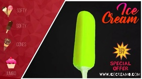 icecream Цифровой дисплей (16 : 9) template