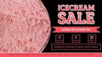 Icecream Sale Facebook Video Event Cover template