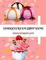 Icecream social ,icecream poster Pamflet (VSA Brief) template