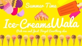 IcecreamWala Poster Template Video copertina Facebook (16:9)