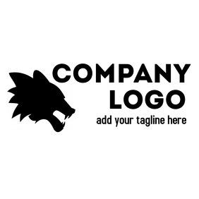 Icon Black and white Animal logo