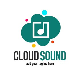 Iconic creative cloud + sound logo template