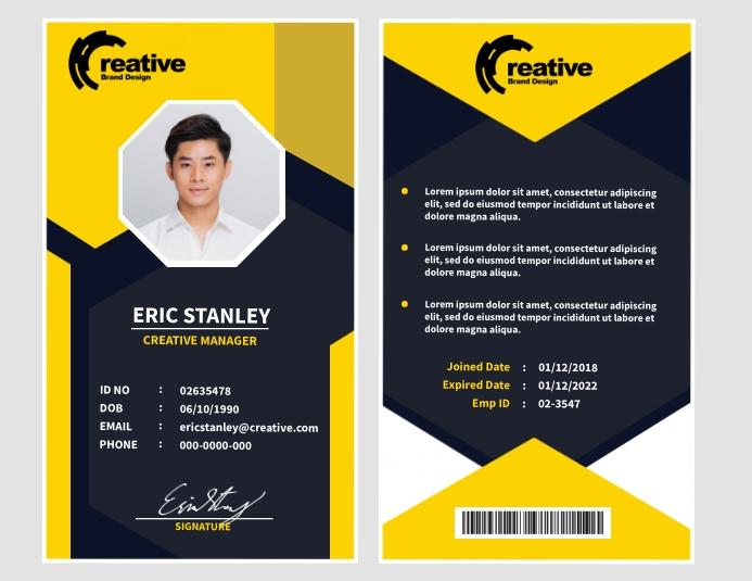 ID Design Template 传单(美国信函)