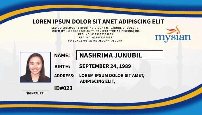 ID Front Tarjeta de Presentación template