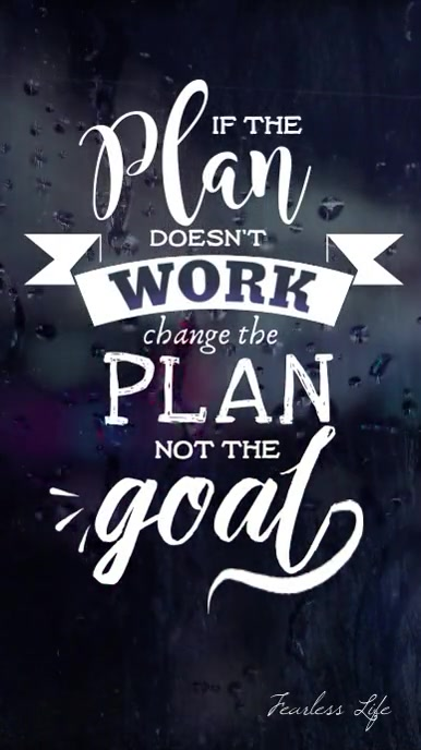 If the plan doesn't work not the goal video