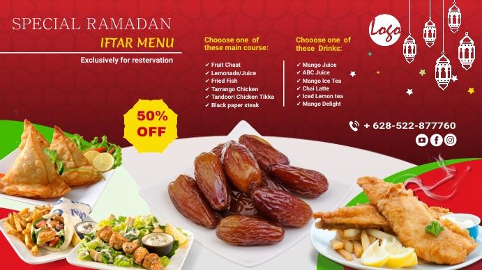 Iftar Deals Menu 数字显示屏 (16:9) template