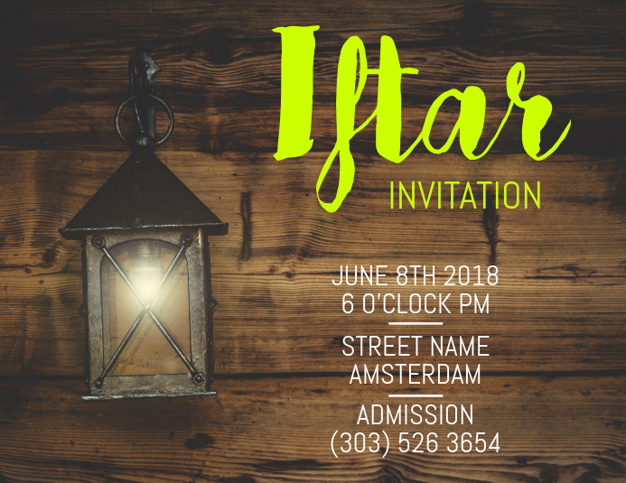 Iftar invitation flyer template postermywall iftar invitation flyer customize template stopboris Gallery