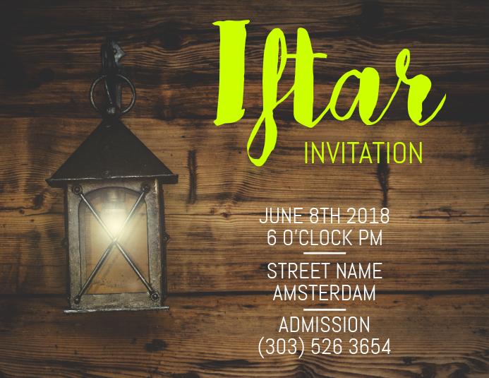 Iftar Invitation Flyer · Customize Template