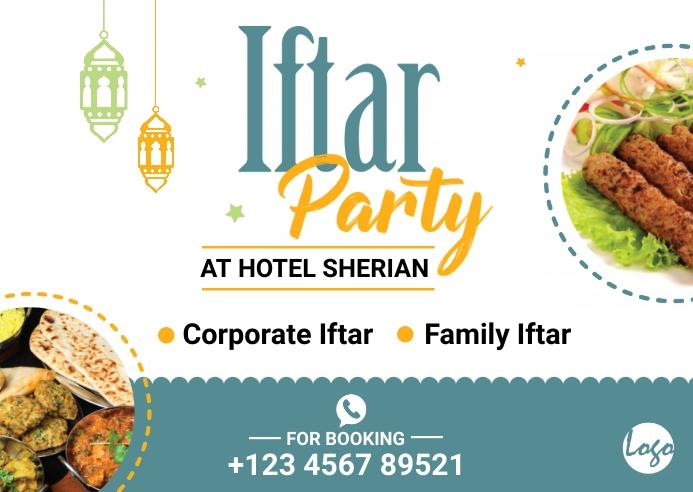 Iftar Offer Postcard template