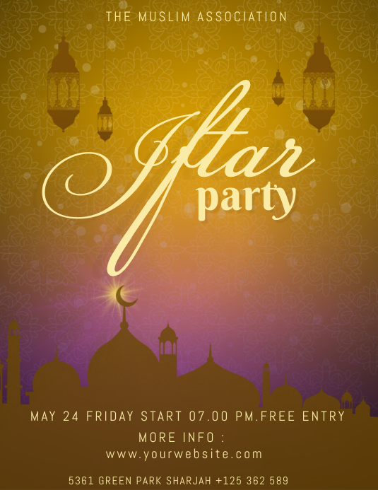 Iftar Party Flyer