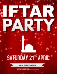 Iftar Party Flyer Template Iflaya (Incwadi ye-US)