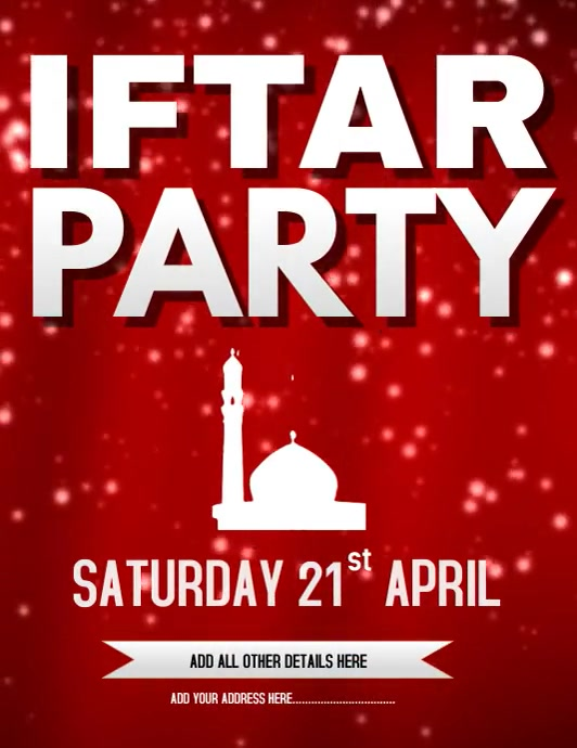 Iftar Party Flyer Template Volantino (US Letter)