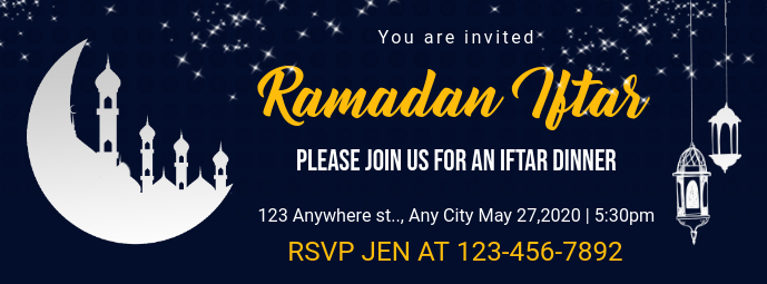 Iftar Party Invitation Facebook Cover