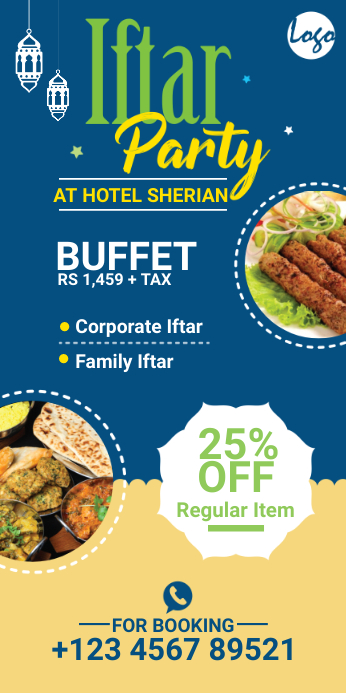 Iftar Party Roll Up Banner template