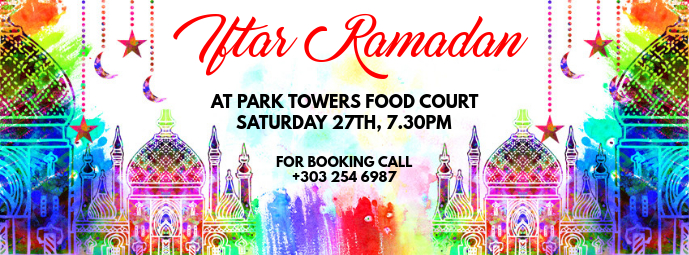 Iftar Ramadan Facebook Cover template