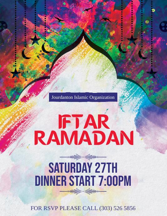 Iftar Ramadan Flyer Iflaya (Incwadi ye-US) template