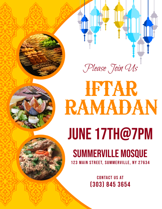 Iftar Ramadan Flyer Volantino (US Letter) template