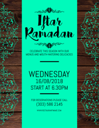 Iftar Ramadan Flyer Volante (Carta US) template
