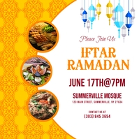 Iftar Ramadan Instagram Post template