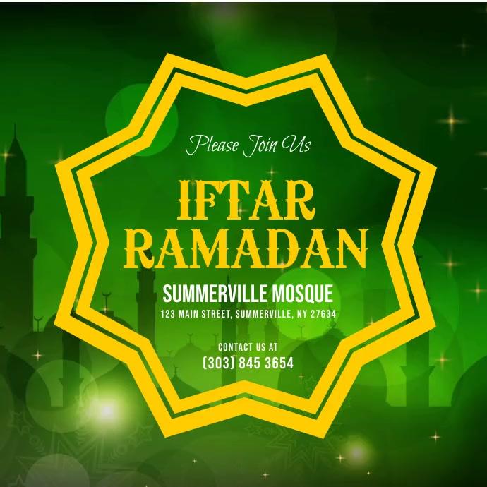 Iftar Ramadan Instagram Post Iphosti le-Instagram template