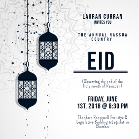 Eid Reception Black and White Invitation