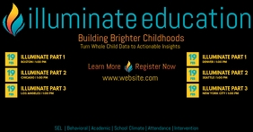 Illuminate Education Facebook Event Cover Facebook-Veranstaltungscover template
