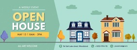 Illustrated Real Estate Facebook Cover Zdjęcie w tle na Facebooka template